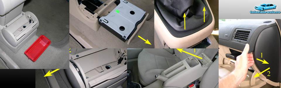 Demontare interior Golf IV, Bora și Jetta