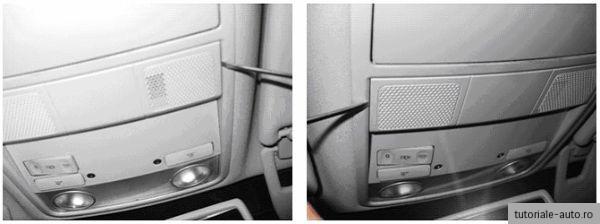 Demontare – Montare plafoniera VW Passat B6