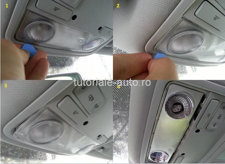 Inlocuire becuri interior DIY VW Golf VI - Jetta VI